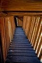 Wooden footbridge in the park Royalty Free Stock Photos