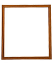 Wooden frame beautiful on white background Stock Photography