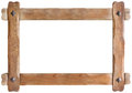 Wooden Frame Cutout Royalty Free Stock Photo