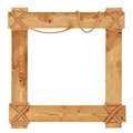 Wooden frame fastened together with ropes this is file of eps format Stock Photography