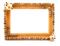 Wooden frame for photo isolated on white background Stock Photos