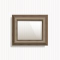 Wooden frame picture file eps format Royalty Free Stock Images