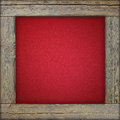 Wooden frame with red canvas Royalty Free Stock Photo