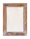 Wooden Frame. Rustic wood frame on the white background Royalty Free Stock Photo