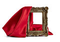 Wooden frame and silk cover Royalty Free Stock Photo