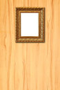 Wooden frame on wood Royalty Free Stock Images
