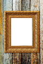 Wooden frame on wood background Royalty Free Stock Photos