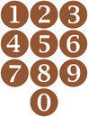Wooden Framed Numbers Royalty Free Stock Image