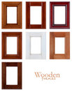 Wooden frames Royalty Free Stock Photos