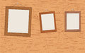 Wooden frames portraits vector texture Royalty Free Stock Photo