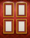 Wooden frames on the wal Royalty Free Stock Photography