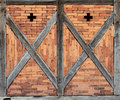 Wooden framework front Royalty Free Stock Photography