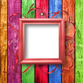 Wooden framework for portraiture Royalty Free Stock Photo