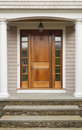 Wooden Front Door Home Stock Photos
