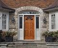 Wooden front door Royalty Free Stock Photo