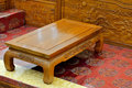 Wooden furniture in oriental style Royalty Free Stock Photo