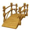 Wooden garden bridge Stock Photography