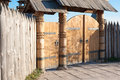 Wooden gate Royalty Free Stock Images