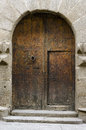 Wooden gate manor house segovia spain Stock Images