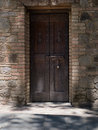 Wooden gate of a medieval castle Royalty Free Stock Photo