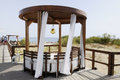 Wooden Gazebo at the Beach Royalty Free Stock Photography