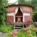 Wooden Gazebo in garden Royalty Free Stock Photo