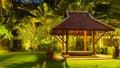 Wooden gazebo in the hotel on Karon beach, Phuket island,Thailand Royalty Free Stock Photo