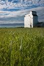 Wooden Grain Elevator on Canadian Prairie Royalty Free Stock Photo