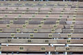 Wooden grandstand seats with numbers horizontal shot Stock Photography