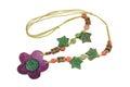 Wooden handcraft jewellery texture necklaces Stock Images