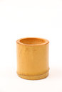 Wooden handmade cup isolated over white background Royalty Free Stock Images
