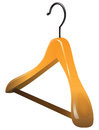 Wooden hanger for large and outerwear vector illustration Stock Images