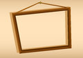 A wooden hanging frame illustration of Stock Photos