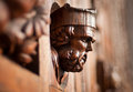 Wooden head on the door Royalty Free Stock Photo