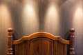Wooden headboard Royalty Free Stock Photo