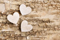 Wooden Heart On Bark Backgroun...