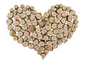 Wooden heart concept Stock Photos