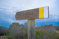Hiking trail signpost Royalty Free Stock Photo