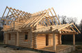Wooden home construction Royalty Free Stock Images