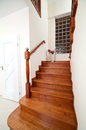 Wooden home stairs Royalty Free Stock Photos