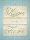 Wooden home sweet home sign Royalty Free Stock Images