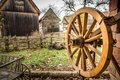 Wooden Horse Car Wheel Royalty Free Stock Photo