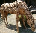 Wooden horse handicraft Royalty Free Stock Photo