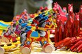 Wooden horses traditional polish toys Stock Images