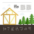 Wooden House Building Royalty Free Stock Photo