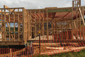 Wooden house construction, building homes in New Zealand, Auckland, New Zealand Royalty Free Stock Photo