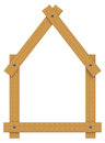 The wooden house d generated picture of a Stock Photo