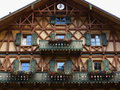 Wooden house facade country style a traditional building in bavaria the hotel linderhof germany Stock Photography