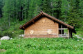 Wooden house in the forest Royalty Free Stock Photo