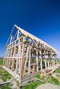 Wooden house frame Royalty Free Stock Photos